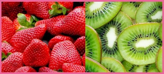 Batido de fresas con kiwi y jengibre