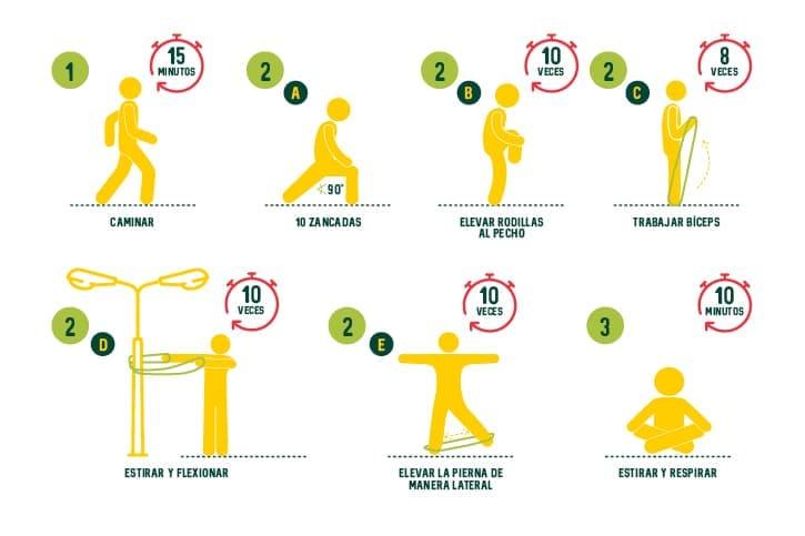 Tabla ejercicios para mayores de 50 años