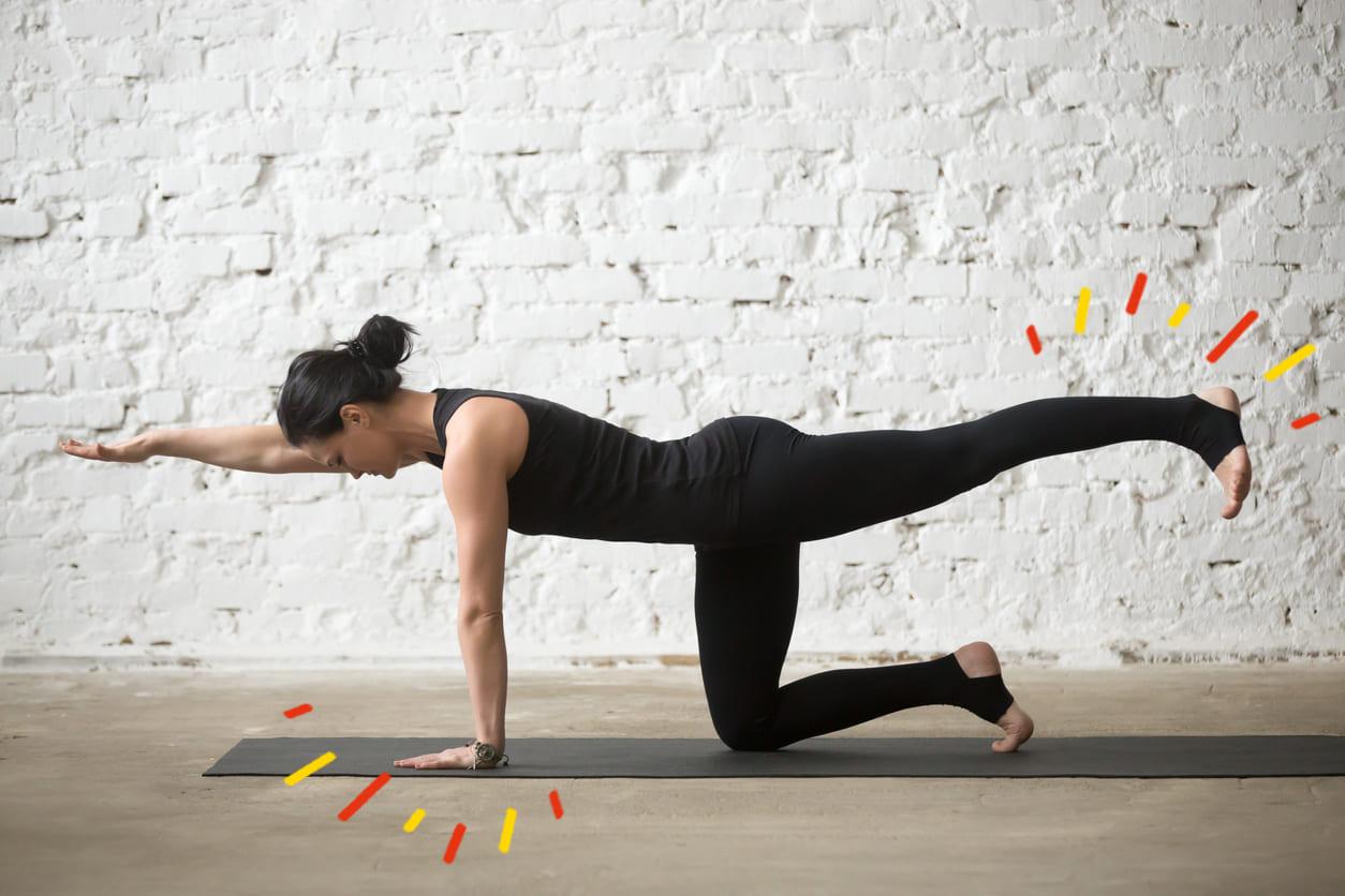 Tabla con 5 ejercicios de pilates en casa - Espacio vitalidad
