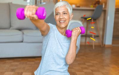 4 ejercicios con mancuernas en casa para tonificar