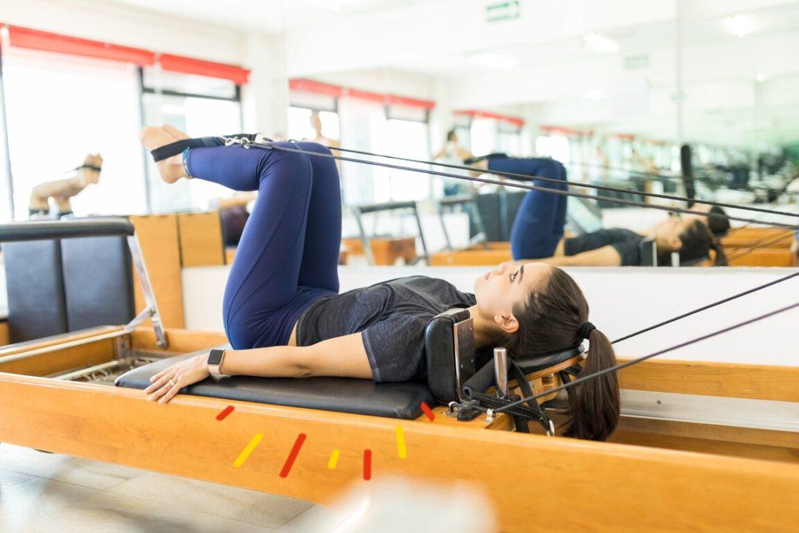 Ejercicios pilates reformer: Rana
