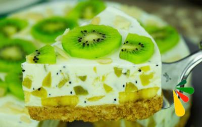 Tarta de kiwi sin horno, resultado increíble