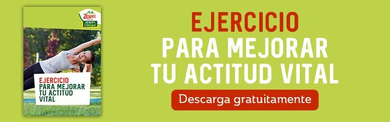 Banner infografía ejercicio para mejorar tu actitud vital