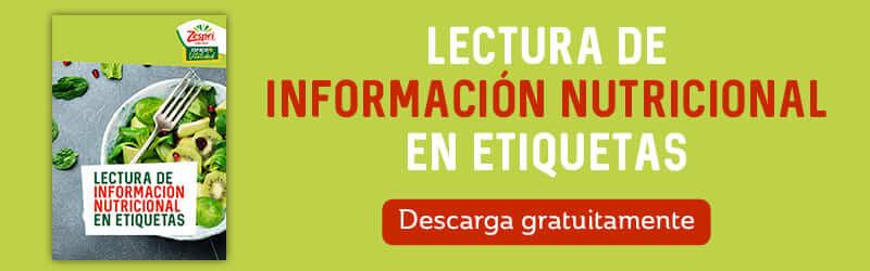 Banner infografía lectura información nutricional en etiquetas