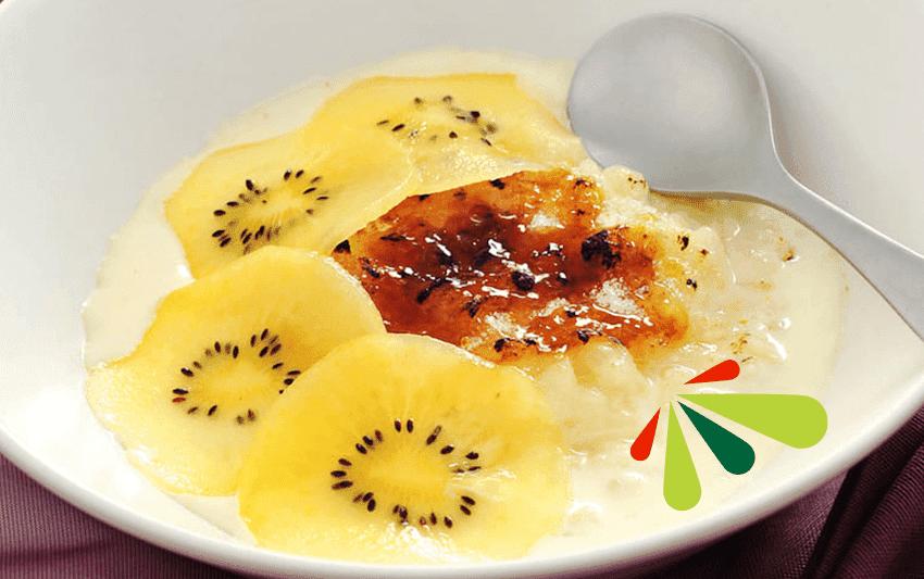 Receta de arroz con leche y kiwi