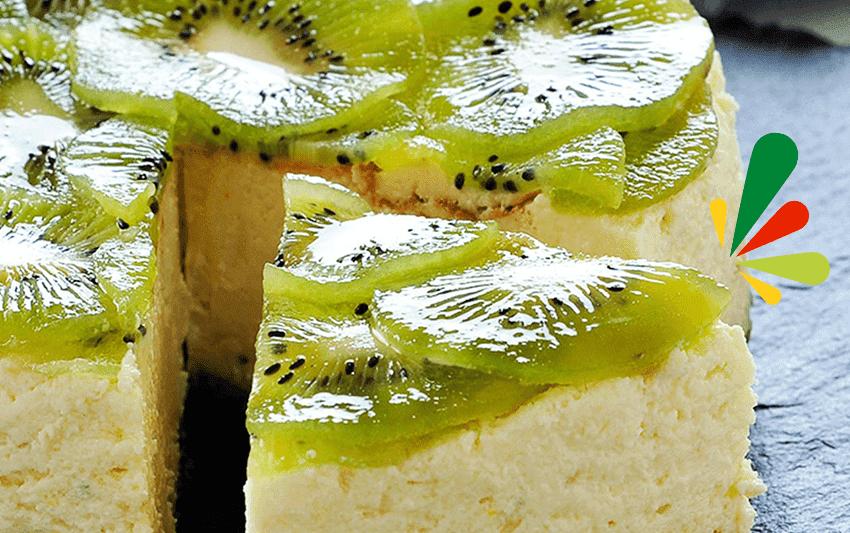 Receta de cheesecake de kiwi