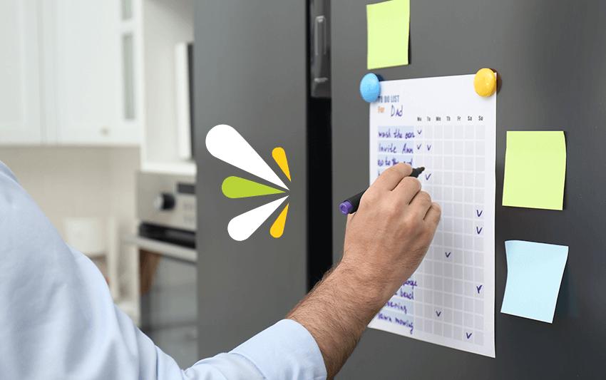 planificar las tareas del hogar
